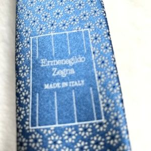 Ermenegildo Zegna Tie FLOWER POWER Blue pattern